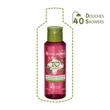 Gel douche concentré Grenade & Baies Roses, Yves Rocher, Flacon 100 ml