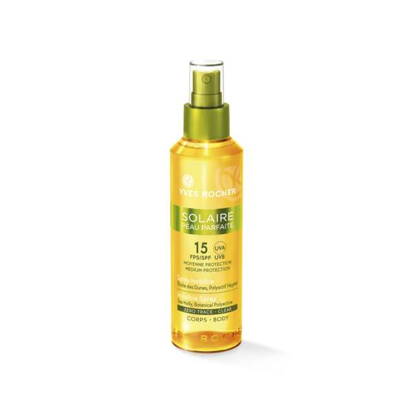 Spray Invisible SPF 15, Sun Peau Parfaite, Flacon-spray 150 ml, Protection solaire, Corps et Solaires