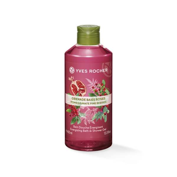 Bain douche Grenade & Baies Roses, Yves Rocher, Flacon 400 ml