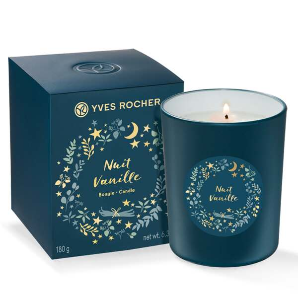 Bougie Nuit Vanille - Collection Noël 2018 - Yves Rocher.