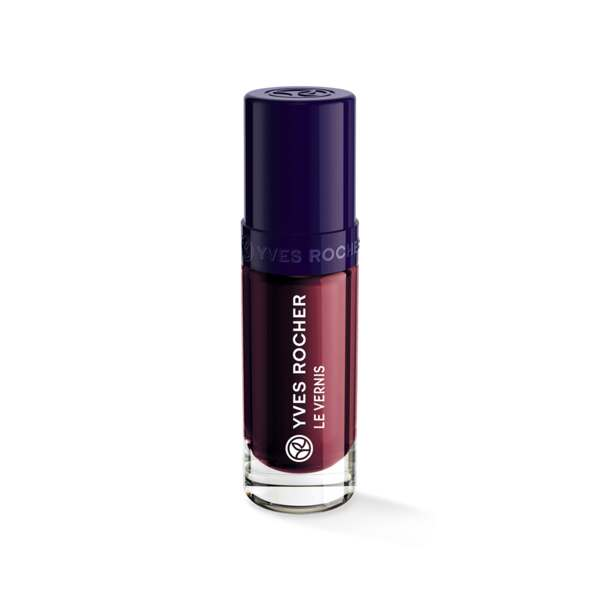 Vernis Couleur Végétale Cerise noire, Expert make-up, Flacon 5 ml, Vernis à ongles, Ongles, Make-up
