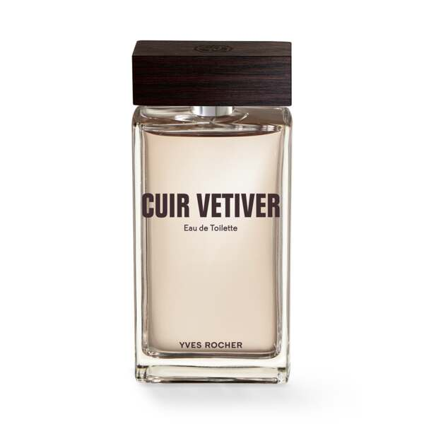 Cuir Vetiver - Eau de Toilette 100 ml, Cuir Vétiver, Flacon 100 ml, Gel douche, Parfums, Hommes