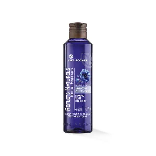 Shampooing Reflets Argentés, Flacon 200 ml, Shampooing Brillance, Cheveux