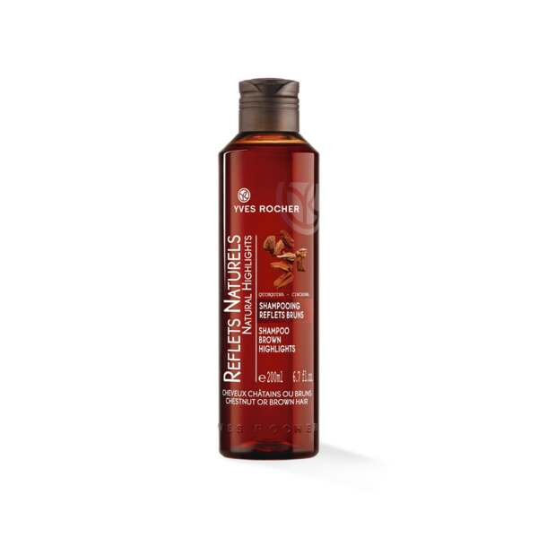 Shampooing Reflets Bruns, Flacon 200 ml, Shampooing Brillance, Cheveux