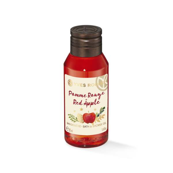 Mini Bain Douche Pomme Rouge 50ml - Collection de Noël